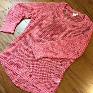 Pink light-weight stretchy sweater